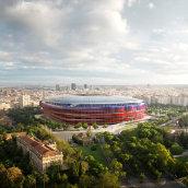 Nou Camp Nou - Estadio del F.C. Barcelona. Un proyecto de Fotografía, 3D, Arquitectura, Arquitectura interior, Postproducción e Infografía de Phrame - 31.08.2015