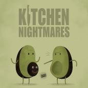 Kitchen Nightmares.. Un proyecto de Ilustración de Jaime Rodríguez Carnero - 18.10.2016