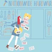 Card Linked Marketing. Um projeto de Animação, Ilustração e Motion Graphics de nueveojos - 26.10.2014