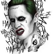 Joker (Jared Leto). A Design & Illustration project by Ivan Rodriguez Olvera - 11.01.2016
