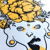 Serigrafía en papel de una de mis txamanas. Un progetto di Illustrazione, Graphic Design , e Serigrafia di Raquel Requejo - 05.11.2016