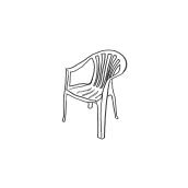 Illustration - Chairs, a personal study about chairs. Un proyecto de Ilustración de Francesca Danesi - 31.07.2016