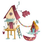 Visual Development House of Lake. Um projeto de Animação, Arquitetura e Ilustração de Lydia Sánchez Marco - 15.11.2016