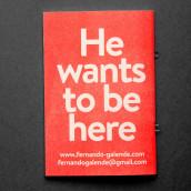 He is not here - Portfolio personal y curriculum vitae, . Um projeto de Fotografia, Direção de arte e Design editorial de Fernando Galende - 16.12.2016
