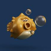 fish. A Design, Illustration, and 3D project by Juan Afanador - 12.22.2016