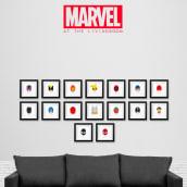 MARVEL at the livingroom. Un proyecto de Ilustración de Ruben Caja - 12.01.2017