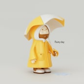 Rainy day. A Design, Illustration, and 3D project by Juan Afanador - 01.26.2017