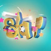 """Texto en 3D """"Star"""". Un proyecto de Diseño, Motion Graphics, 3D, Diseño gráfico y Tipografía de carlos morales - 30.01.2017"""