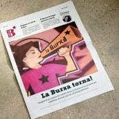 """Ilustración para periódico cultural-reivindicativo """"La Burxa"""", Barcelona.. Um projeto de Ilustração, Design editorial e Design gráfico de Not On Earth - Marc Soler - 24.12.2016"""