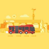 Google Transit. A Illustration, Motion Graphics und Animation project by Sociedad Fantasma - 20.02.2017