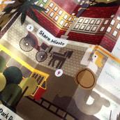 Yelpy Map of Warsaw. Um projeto de Direção de arte, Design gráfico e Ilustração de Sara de la Mora - 04.06.2013