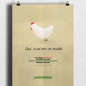 Ceci n'est pas un poulet. Um projeto de Design gráfico e Ilustração de Andrea Knörr Aizpuru - 28.02.2017