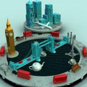Proyecto Dirección de Arte, London. A 3D, Art Direction, and Graphic Design project by leantamplan - 03.06.2017