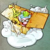 Cardboard Plane - Ilustración. A Illustration, and Character Design project by Ademar García - 03.13.2017