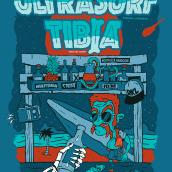 Cartel para concierto: ULTRASURF & TIBIA. Un proyecto de Diseño, Ilustración y Diseño gráfico de Jaime Rodríguez Carnero - 24.03.2017