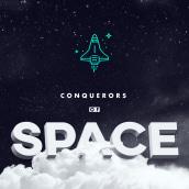 Conquerors of Space - for 36days of Type #4. Un proyecto de Diseño gráfico, Tipografía y Caligrafía de Eduardo Dosuá - 28.03.2017