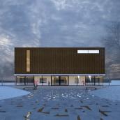 3D Edificio exterior. A 3D, and Architecture project by Sergio Fernández Moreno - 04.25.2017