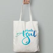 Logo Fundación Planeta Azul: real work. Un proyecto de Br e ing e Identidad de Harold Guerrero - 15.06.2017