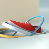 Victoria Shoes - TV Spot. Um projeto de 3D, Animação e Design de som de Enrico Varagnolo - 27.06.2017