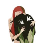 Portada para el libro abrázame los monstruos. Um projeto de Ilustração de Mercedes deBellard - 06.07.2017