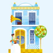 Una casa que fa cantonet. El Cabanyal. Un proyecto de Ilustración y Diseño editorial de Marta Chaves - 01.06.2016
