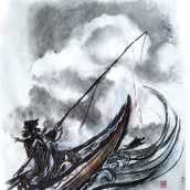 """""""El pescadorcito Urashima"""": Introducción a la ilustración infantil. Un proyecto de Ilustración de Miguel Gosálvez Mariño - 22.07.2017"""