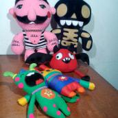 Mi Proyecto del curso: Textile Toys: diseño y creación de personajes en tela. Um projeto de Design, Design de personagens, Artesanato, Design de brinquedos e Pattern Design de María González - 27.07.2017