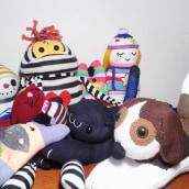 """Mi proyecto: """"Sock Toys"""" Muñecos de  guantes y medias.. Um projeto de Design, Design de personagens, Artesanato e Design de brinquedos de María González - 04.08.2017"""