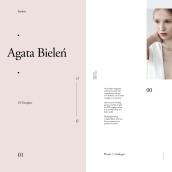 Agata Bielen (freebie). Um projeto de Direção de arte, Design gráfico, Design interativo e Web design de Adrián Somoza - 08.08.2017