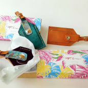 Leather Luggage Tag Packaging. Um projeto de Artesanato e Packaging de Miren Camara Egaña - 20.06.2017