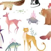 Animales. Um projeto de Ilustração de Mercedes deBellard - 03.09.2017