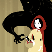 Caperucita y el lobo lector. A Illustration, and Animation project by Isabel Heredia - 04.23.2016