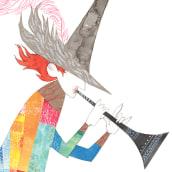 El flautista de Hamelín. Un projet de Illustration, Character Design, Conception éditoriale, Beaux Arts , et Collage de Edu Benavente - 06.09.2017