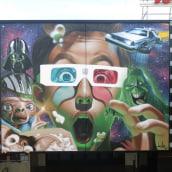Mural Multicines París -Andujar-. Um projeto de Arte urbana de Miguel Ángel Belinchón Bujes - 09.11.2016
