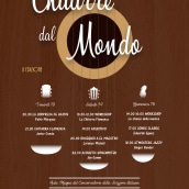 Publicidad festival de guitarra. Un proyecto de Publicidad, Dirección de arte, Diseño gráfico e Ilustración vectorial de Ana Traba de la Gándara - 07.09.2017