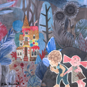 Hansel & Gretel. Un projet de Illustration, Character Design, Conception éditoriale, Beaux Arts , et Collage de Edu Benavente - 02.10.2017