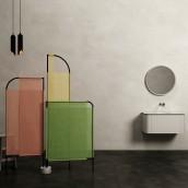 MOVO. Biombo para espacio de baño.. Un progetto di Design, 3D, Design di mobili, Design industriale, Architettura d'interni , e Product Design di Pablo Lardón - 27.09.2017