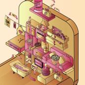 Micromundo 2.0 / la era del estudiante. Um projeto de Ilustração e Ilustração vetorial de Marta Rivera - 02.10.2017