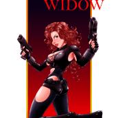 Ilustración de Black Widow. Un proyecto de Ilustración, Diseño de personajes y Cómic de Samuel Chuquizuta - 04.10.2017