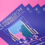 23 Festival de Cine Francés de Málaga. A Br, ing, Identit, Graphic Design, and Vector Illustration project by Estudio Santa Rita - 10.20.2017