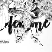 Femme. Edición limitada. Um projeto de Design, Ilustração, Artesanato, Moda, Artes plásticas, Design de interiores, Serigrafia, Tipografia e Colagem de Elena Struch - 23.10.2017