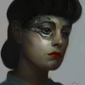 Rachael - Blade Runner. Um projeto de Design de personagens e Ilustração de Jose Barrero - 01.02.2017