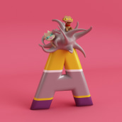 Mi Proyecto del curso: Diseño de personajes en Cinema 4D: del boceto a la impresión 3D. Um projeto de 3D de Daniel González - 07.11.2017
