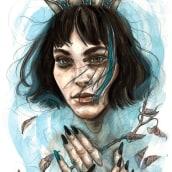 Reina de un mar de lágrimas. A Fine Art & Illustration project by Vanesa Izquierdo Ruiz - 11.08.2017