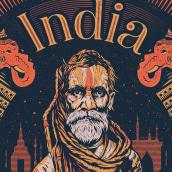 INDIA. A Illustration und Vektorillustration project by Matias Harina - 08.11.2017