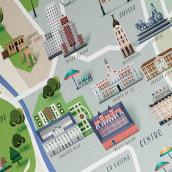 Mapa de Madrid, revista Traveler. Un progetto di Direzione artistica, Illustrazione e Illustrazione vettoriale di David Comerón - 01.11.2017