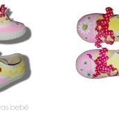 Zapatillas DIY para niña, pintanas a mano con pintura textil. A Bildende Künste und Design project by Alazne de Luis Maestro - 17.11.2017