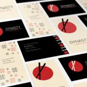 Sistema de identidad y branding para Restaurant Dynasty. Un projet de Design , Br, ing et identité, Conception éditoriale, Design graphique, Naming , et Création de motifs de Ale Fisichella - 26.11.2017