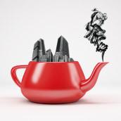 """""""Madrid is fun..."""" Mi Proyecto del curso: Creación de imágenes Pop Art con objetos cotidianos. A 3-D und Illustration project by Alicia Puyol - 27.11.2017"""