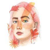 Proyecto Final Restrato Ilustrado con acuarela. Un proyecto de Ilustración de Brenda Rojas - 30.11.2017